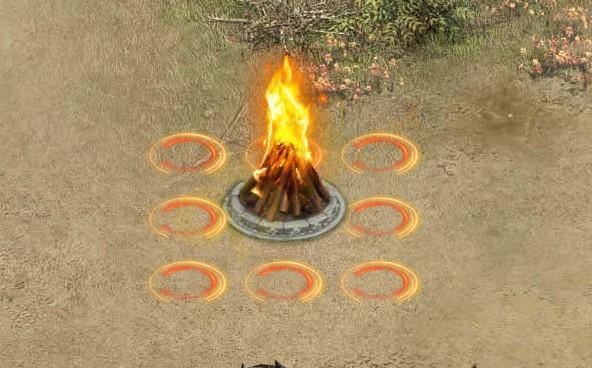 烈火战神篝火争夺战