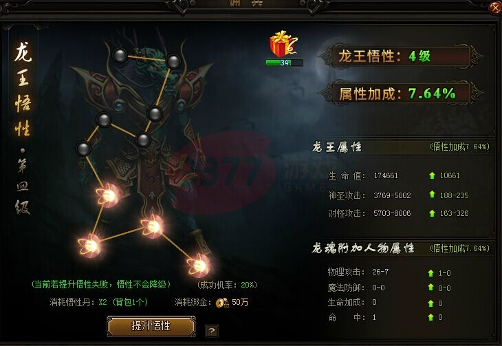 赤月传说2龙王悟性玩法介绍